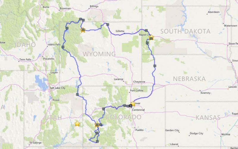 Direction Yellowstone via les Black Hills